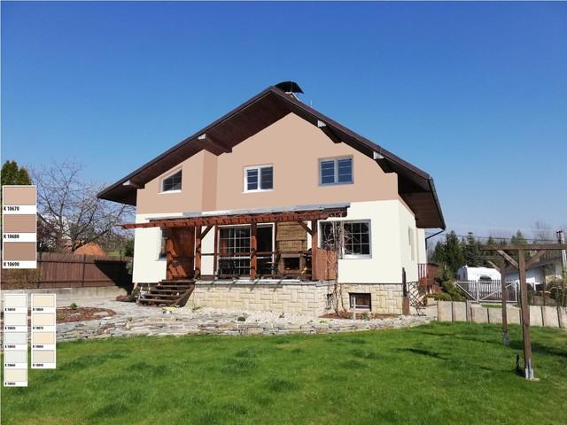 Obrázek 2 pro referenci Grafický návrh fasády rodinného domu, kombinace hnědých odstínů