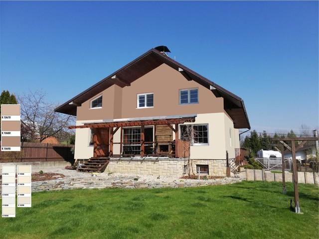 Obrázek 6 pro referenci Grafický návrh fasády rodinného domu, kombinace hnědých odstínů