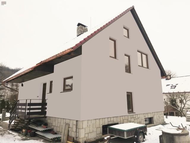 Obrázek 3 pro referenci Grafický návrh fasády rodinného domu v hnědém odstínu CERESIT