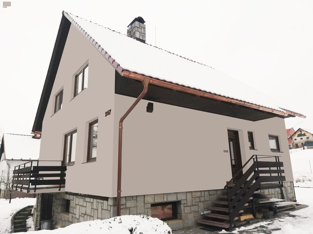 Obrázek 5 pro referenci Grafický návrh fasády rodinného domu v hnědém odstínu CERESIT