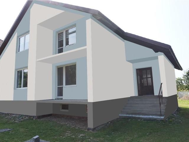 Obrázek 3 pro referenci Grafický návrh fasády rodinného domu v odstínech CERESIT