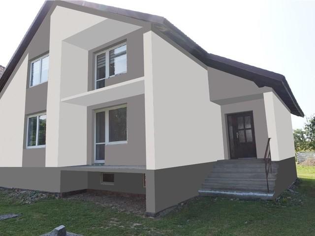Obrázek 4 pro referenci Grafický návrh fasády rodinného domu v odstínech CERESIT