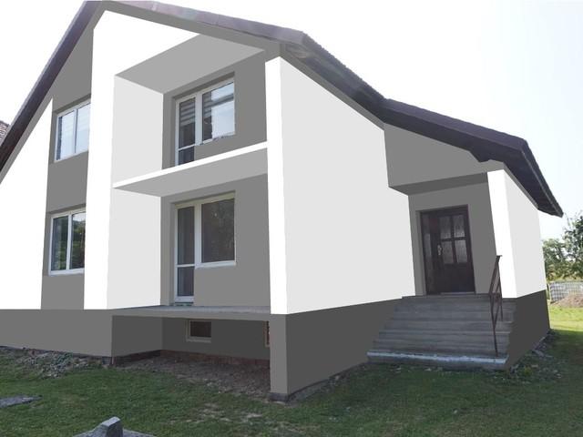 Obrázek 6 pro referenci Grafický návrh fasády rodinného domu v odstínech CERESIT