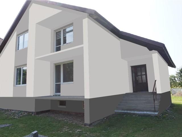 Obrázek 5 pro referenci Grafický návrh fasády rodinného domu v odstínech CERESIT
