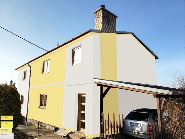 Obrázek 5 pro referenci Grafický návrh fasády domu před rekonstrukcí v odstínech CERESIT