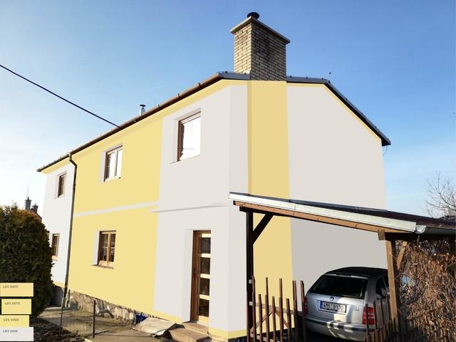 Obrázek 6 pro referenci Grafický návrh fasády domu před rekonstrukcí v odstínech CERESIT