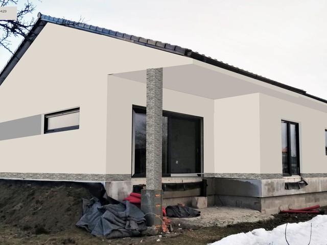 Obrázek 4 pro referenci Grafický návrh fasády novostavby domu s betonovým obkladem STEGU