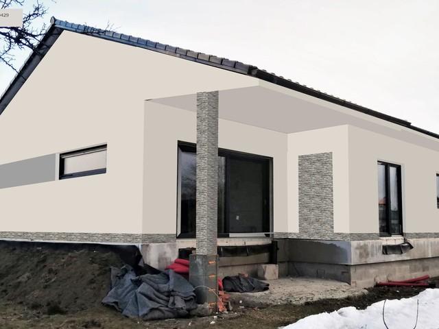 Obrázek 5 pro referenci Grafický návrh fasády novostavby domu s betonovým obkladem STEGU