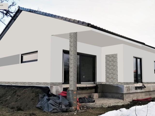 Obrázek 6 pro referenci Grafický návrh fasády novostavby domu s betonovým obkladem STEGU
