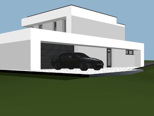 Obrázek 3 pro referenci Grafický návrh fasády novostavby RD do vizualizace