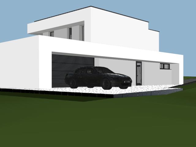 Obrázek 4 pro referenci Grafický návrh fasády novostavby RD do vizualizace