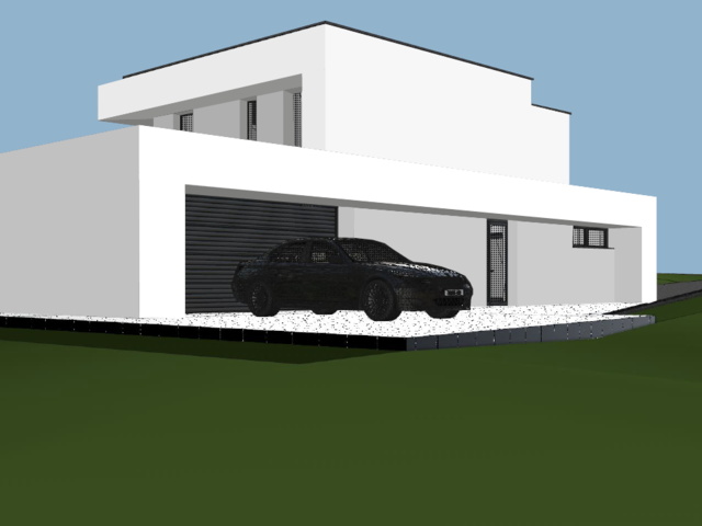 Obrázek 5 pro referenci Grafický návrh fasády novostavby RD do vizualizace