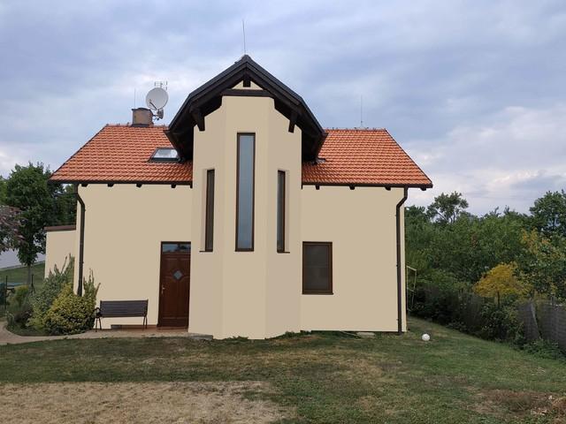 Obrázek 3 pro referenci Grafický návrh fasády rodinného domu v hnědých odstínech CERESIT