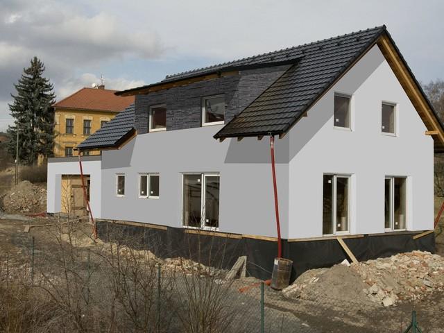 Obrázek 3 pro referenci Grafický návrh fasády novostavby RD s betonovým obkladem STEGU