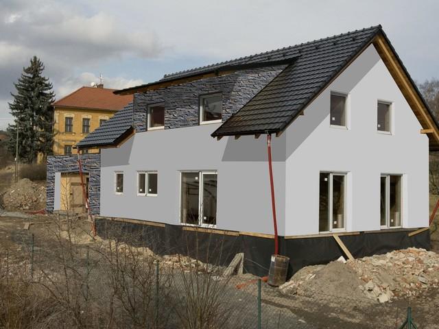 Obrázek 5 pro referenci Grafický návrh fasády novostavby RD s betonovým obkladem STEGU
