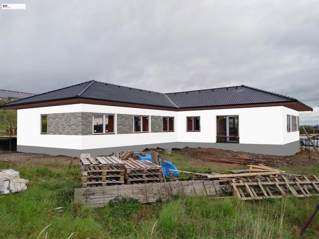 Obrázek 2 pro referenci Grafický návrh fasády novostavby RD s betonovým obkladem STEGU