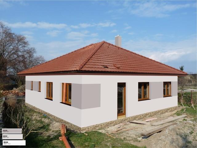 Obrázek 6 pro referenci Grafický návrh fasády novostavby RD s betonovým obkladem STEGU