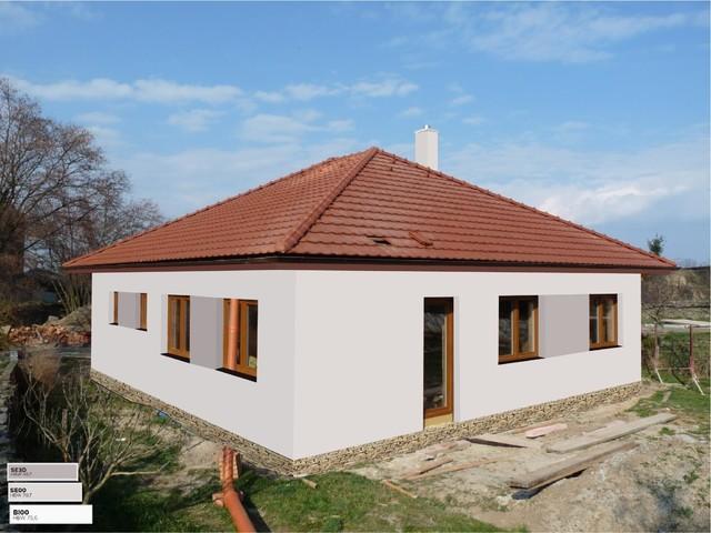 Obrázek 4 pro referenci Grafický návrh fasády novostavby RD s betonovým obkladem STEGU
