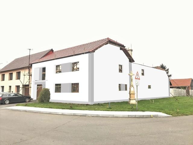 Obrázek 6 pro referenci Grafický návrh fasády RD před rekonstrukcí v odstínech CERESIT