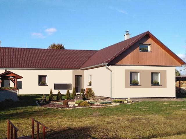Obrázek 1 pro referenci Grafický návrh fasády rodinného domu v odstínech CERESIT.
