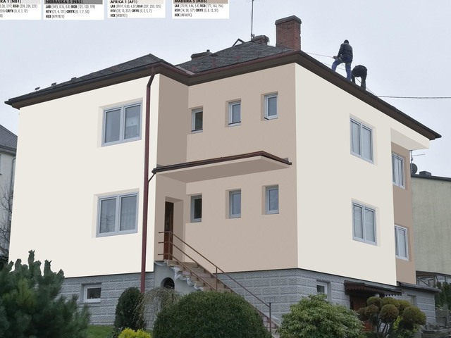 Obrázek 1 pro referenci Grafický návrh fasády RD v hnědých a šedých odstínech CERESIT