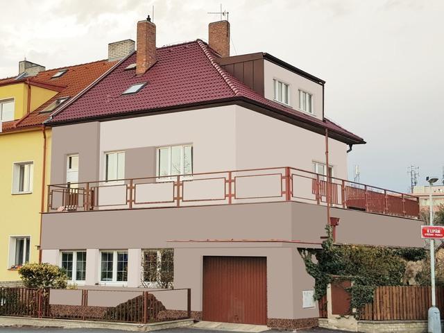 Obrázek 1 pro referenci Grafický návrh fasády staršího rodinného domu v odstínech BAUMIT
