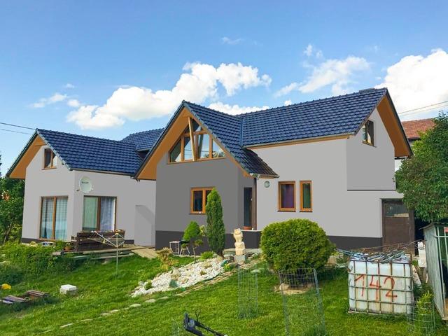 Obrázek 1 pro referenci Grafický návrh zateplení fasády rodinného domu s odstíny CERESIT
