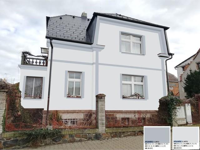 Obrázek 1 pro referenci Grafický návrh fasády historické víly s dekorativním prvkem