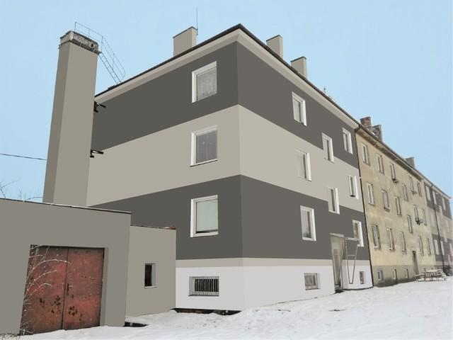 Obrázek 1 pro referenci Grafický návrh fasády bytového domu v odstínech CERESIT