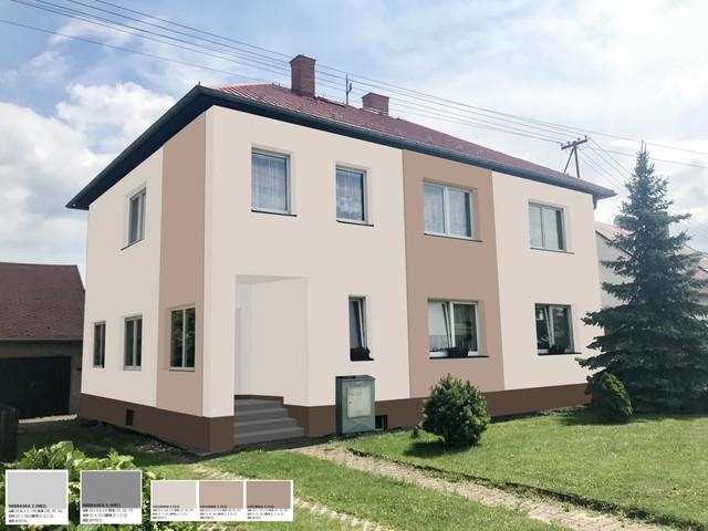 Obrázek 1 pro referenci Grafický návrh fasády staršího rodinného domu v odstínech CERESIT