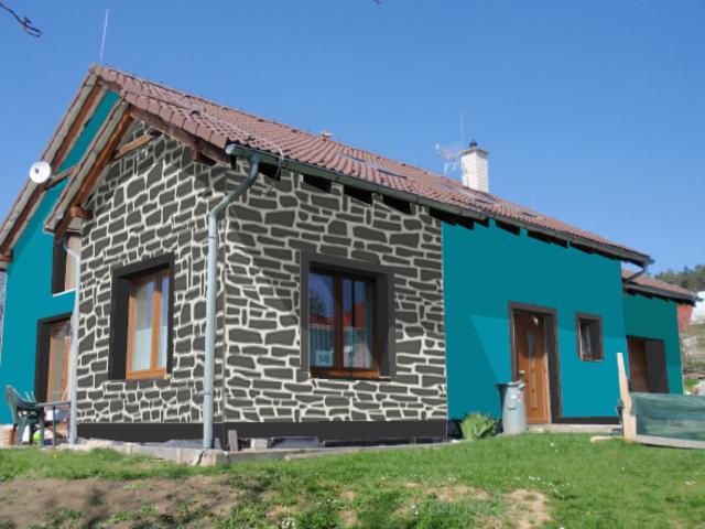 Obrázek 1 pro referenci Grafický návrh fasády RD s dekorativní šablonou CERESIT VISAGE