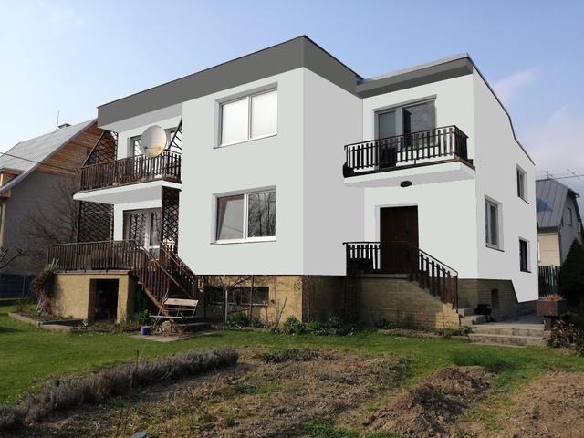 Obrázek 1 pro referenci Grafický návrh fasády RD v šedých odstínech CERESIT