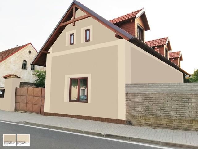 Obrázek 1 pro referenci Grafický návrh fasády RD, šambrány a dekorativní pruhy