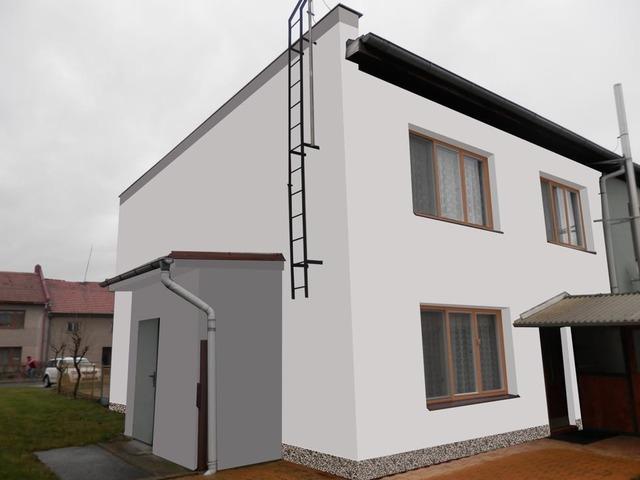 Obrázek 1 pro referenci Grafický návrh řadového rodinného domu v odstínech CERESIT