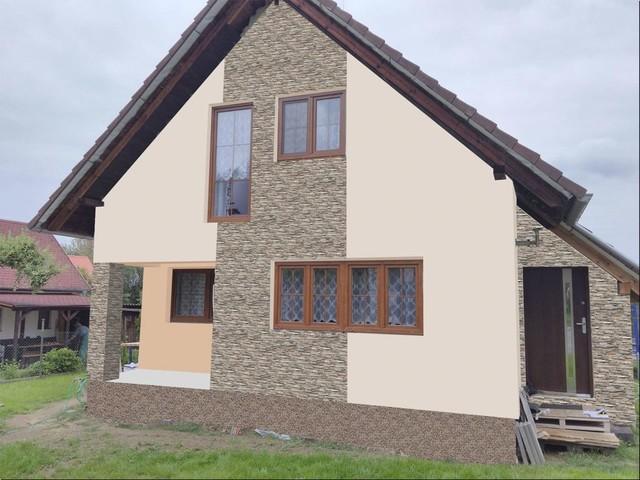 Obrázek 1 pro referenci Grafický návrh fasády RD s fasádním obkladovým kamenem STEGU