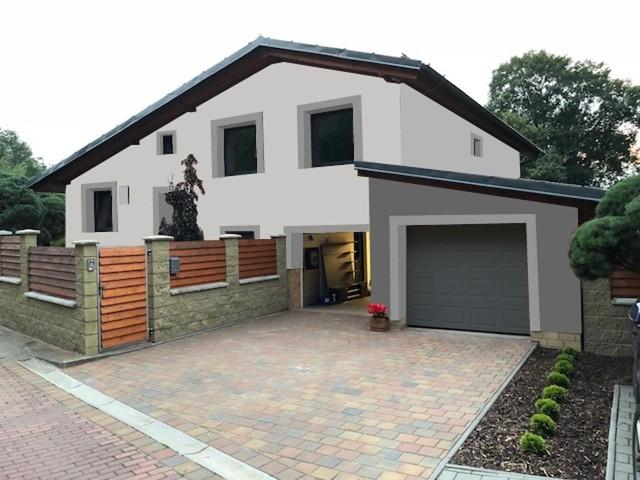 Obrázek 1 pro referenci Grafický návrh rozvržení barevných prvků fasády rodinného domu