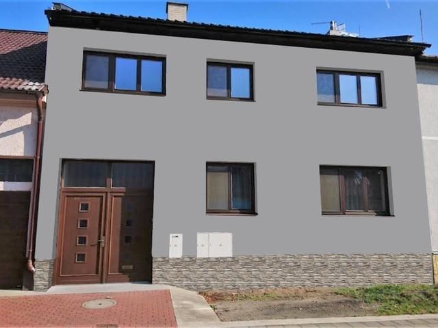 Obrázek 1 pro referenci Grafický návrh fasády staršího RD s betonovým obkladem STEGU