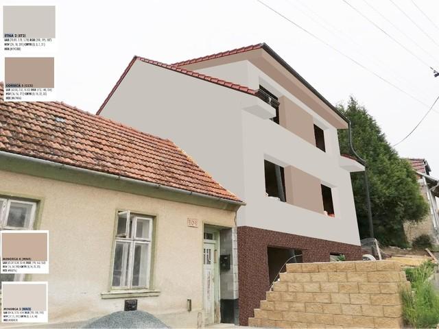Obrázek 1 pro referenci Grafický návrh fasády hrubé stavby RD v odstínech CERESIT