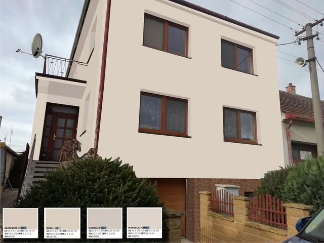 Obrázek 1 pro referenci Grafický návrh fasády domu před rekonstrukcí v odstínech CERESIT
