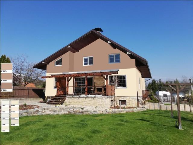 Obrázek 1 pro referenci Grafický návrh fasády rodinného domu, kombinace hnědých odstínů