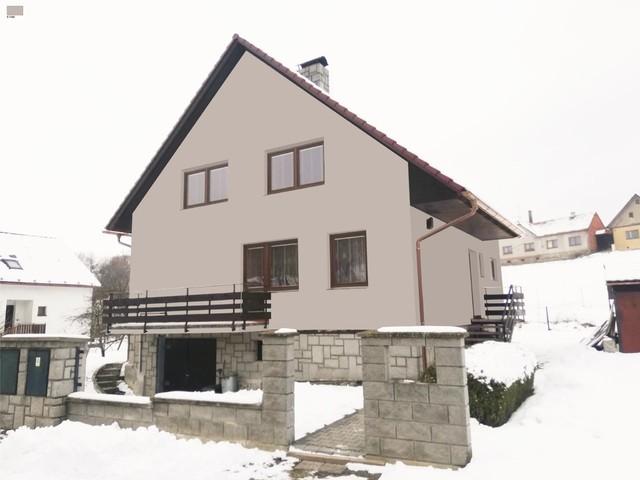 Obrázek 1 pro referenci Grafický návrh fasády rodinného domu v hnědém odstínu CERESIT