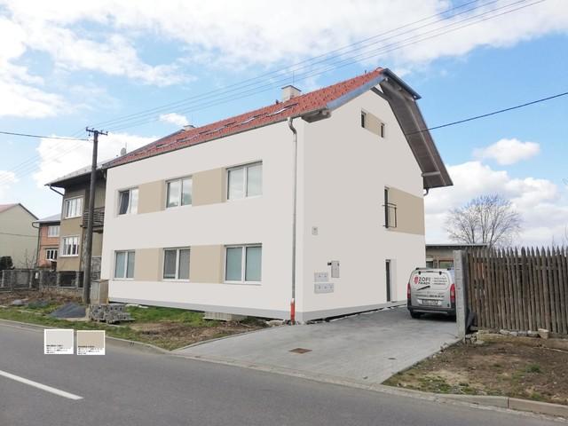 Obrázek 1 pro referenci Grafický návrh fasády rodinného domu v odstínech CERESIT