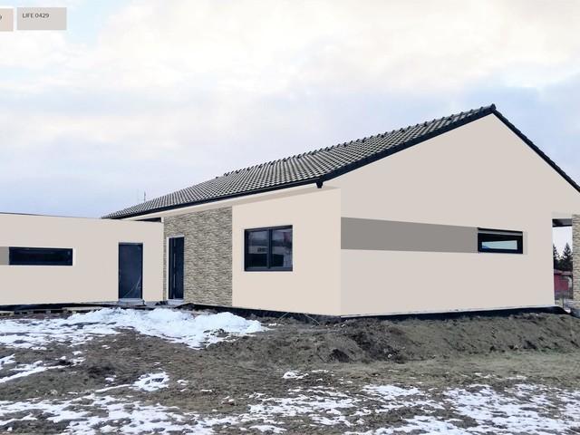 Obrázek 1 pro referenci Grafický návrh fasády novostavby domu s betonovým obkladem STEGU