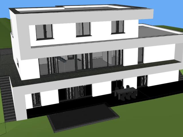 Obrázek 1 pro referenci Grafický návrh fasády novostavby RD do vizualizace