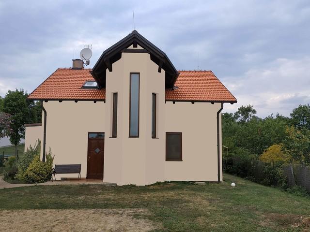 Obrázek 1 pro referenci Grafický návrh fasády rodinného domu v hnědých odstínech CERESIT