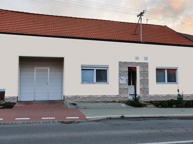 Obrázek 1 pro referenci Grafický návrh fasády RD s betonovým obkladem STEGU