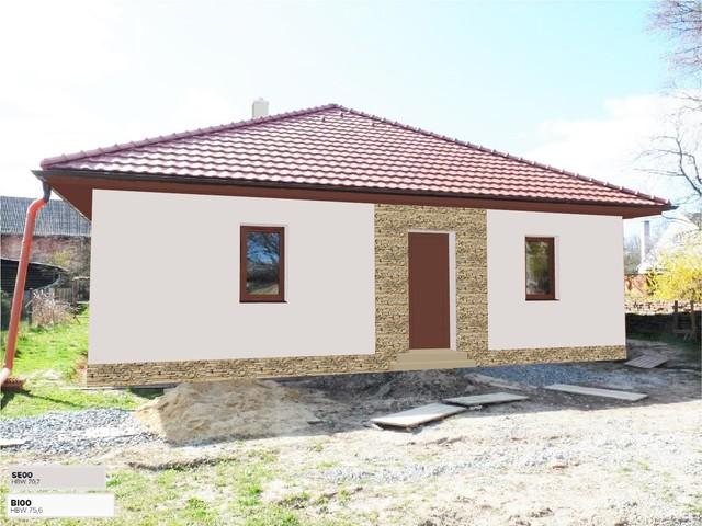 Obrázek 1 pro referenci Grafický návrh fasády novostavby RD s betonovým obkladem STEGU