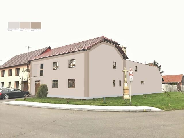 Obrázek 1 pro referenci Grafický návrh fasády RD před rekonstrukcí v odstínech CERESIT